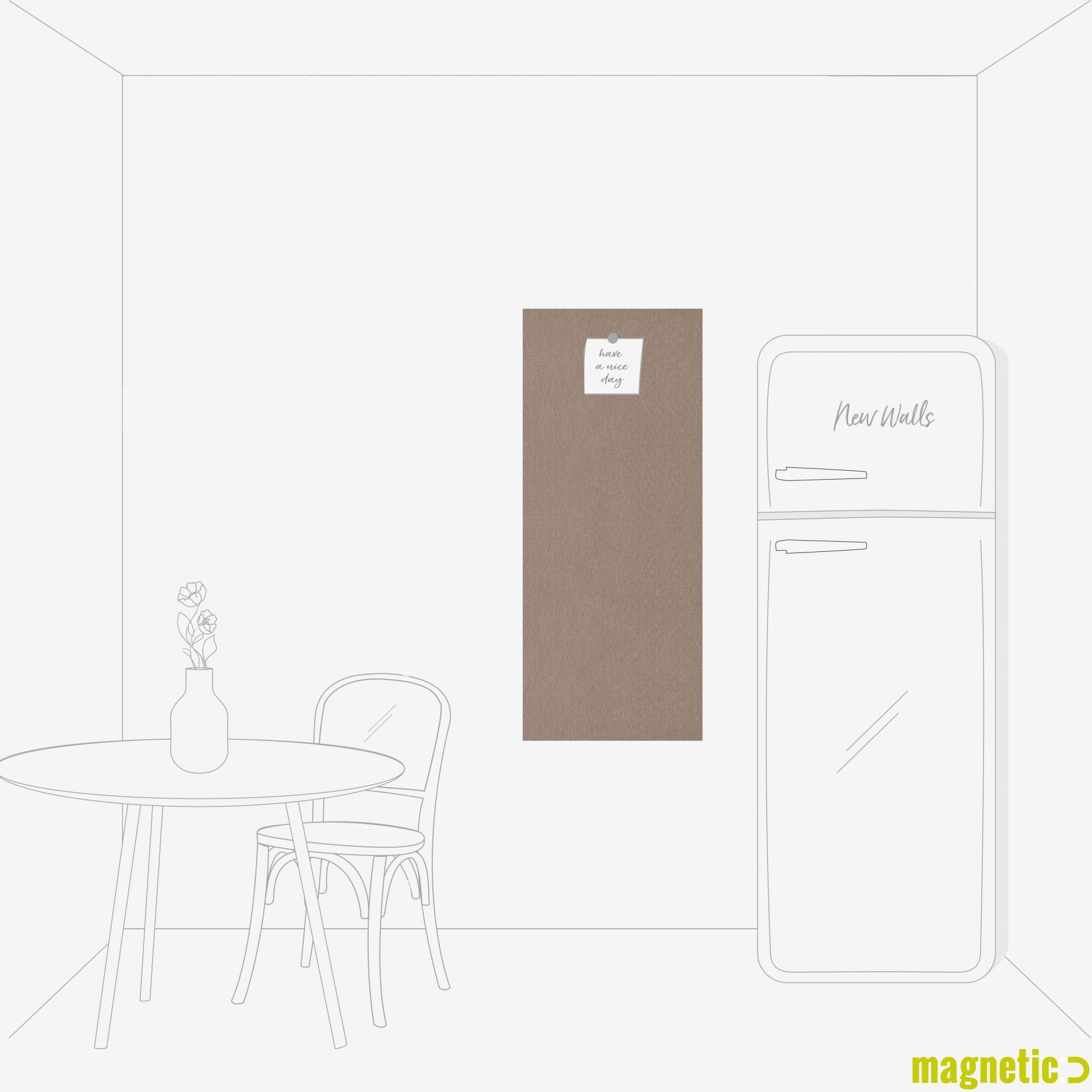 skizzierte Küche weiß braun