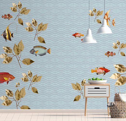 Fototapete im Vintagestil mit Fischen DD114337
