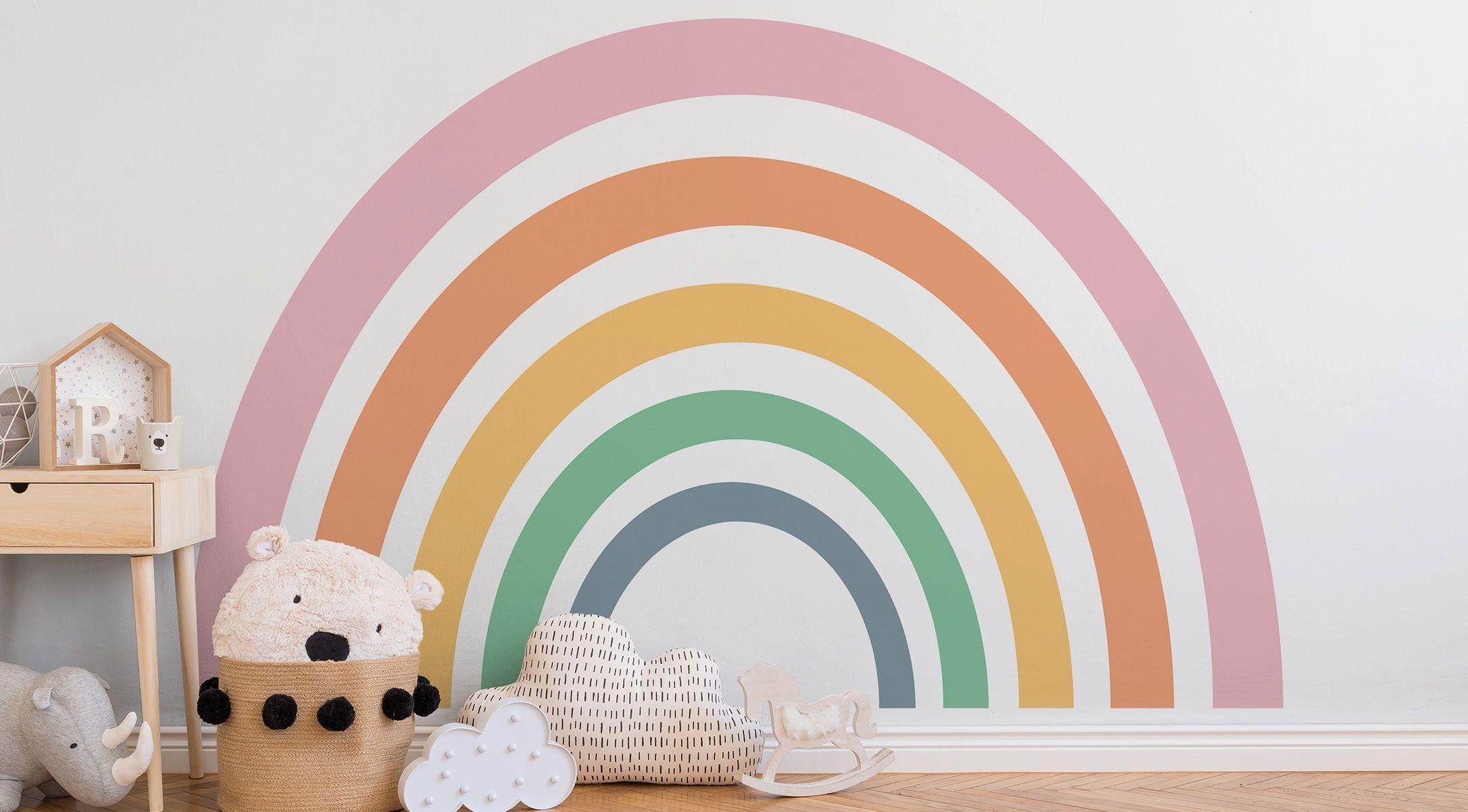 Regenbogen-Fototapete-Kinderzimmer-DD123316