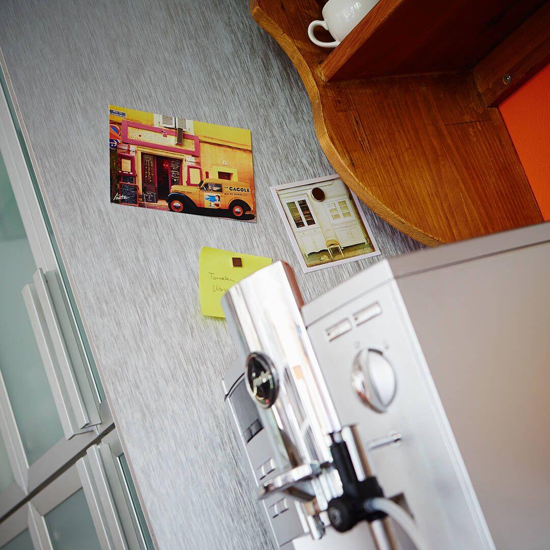 Magnetische Tapete in der Küche
