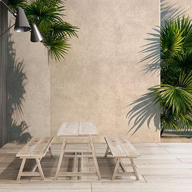 3D Wand mit Palmen Fototapete DD122836