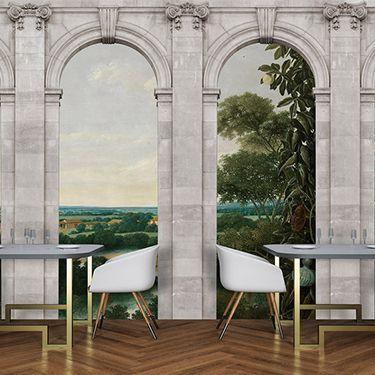 3D Fototapete Fensterblick DD122204