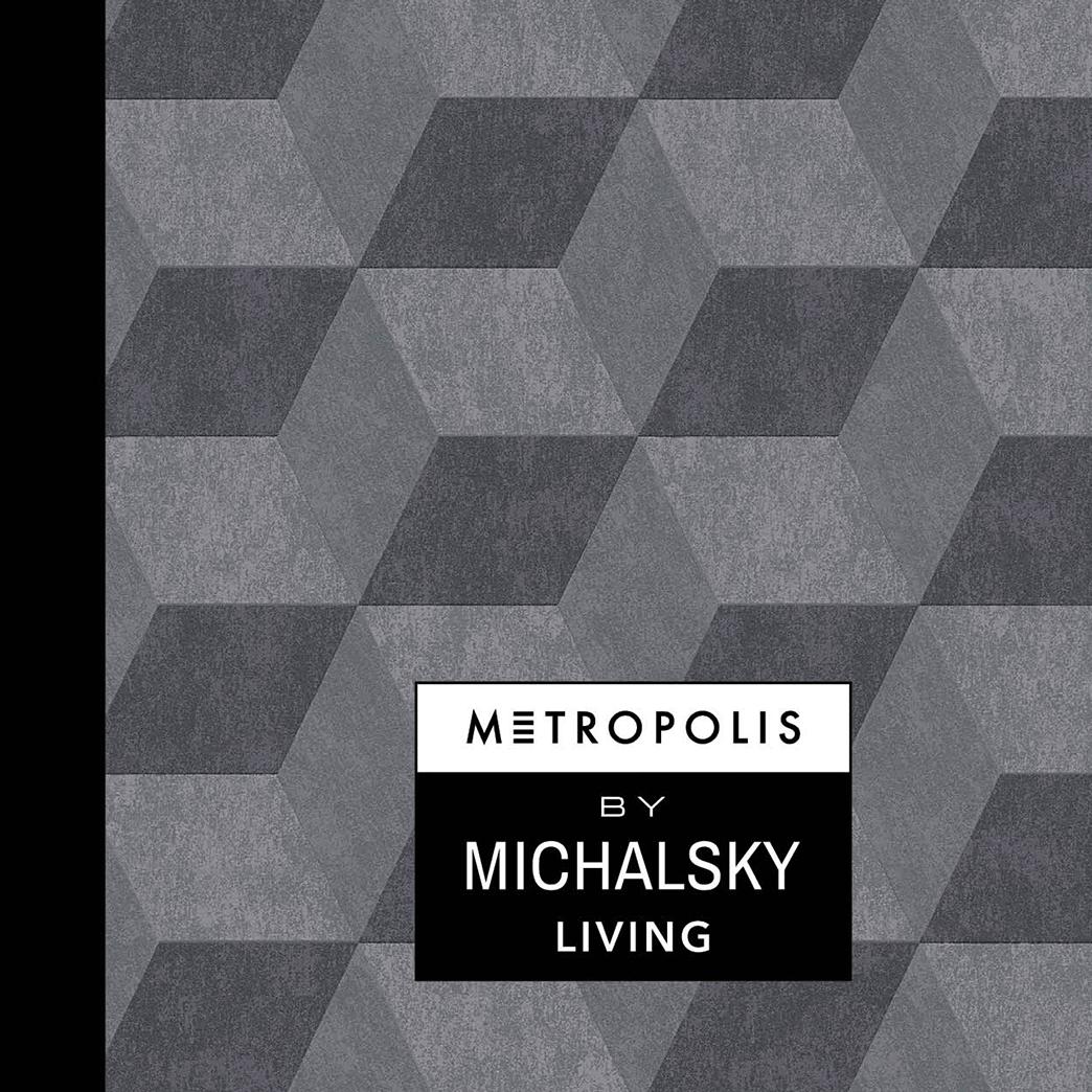 Kollektionsdeckel für die Tapetenkollektion Metropolis von Michalsky Living