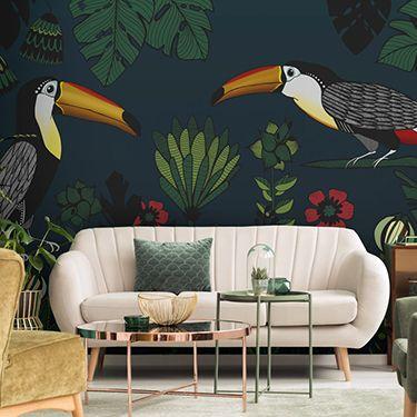 Tropische Wohnzimmer Fototapete DD120065