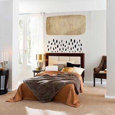 Goldschwarze Regentapete Schlafzimmer DD119945