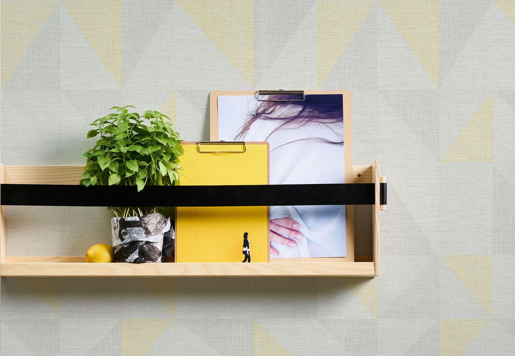 Gelb Graue Tapete für die Küche