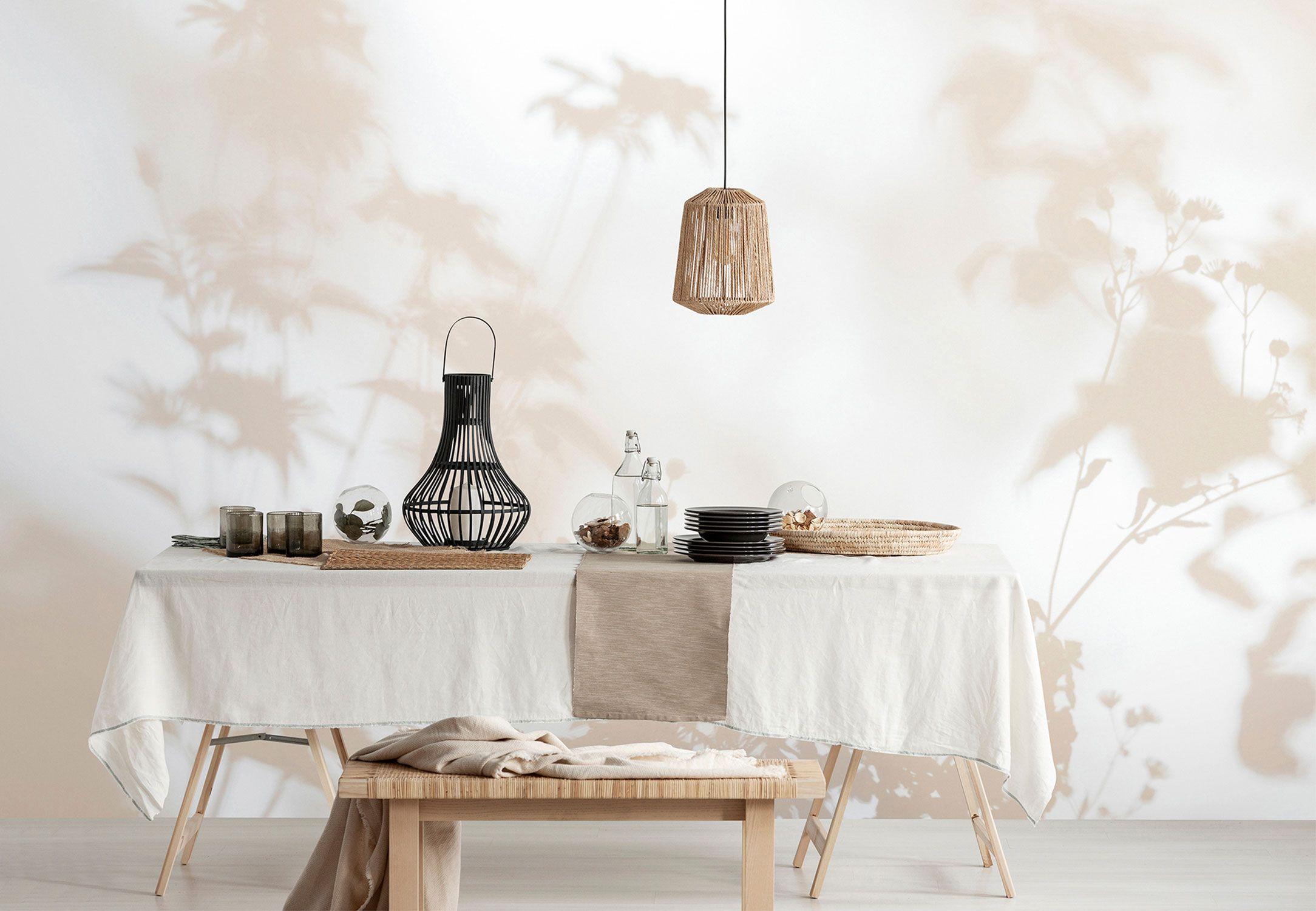Küchen Tapete Schatten beige
