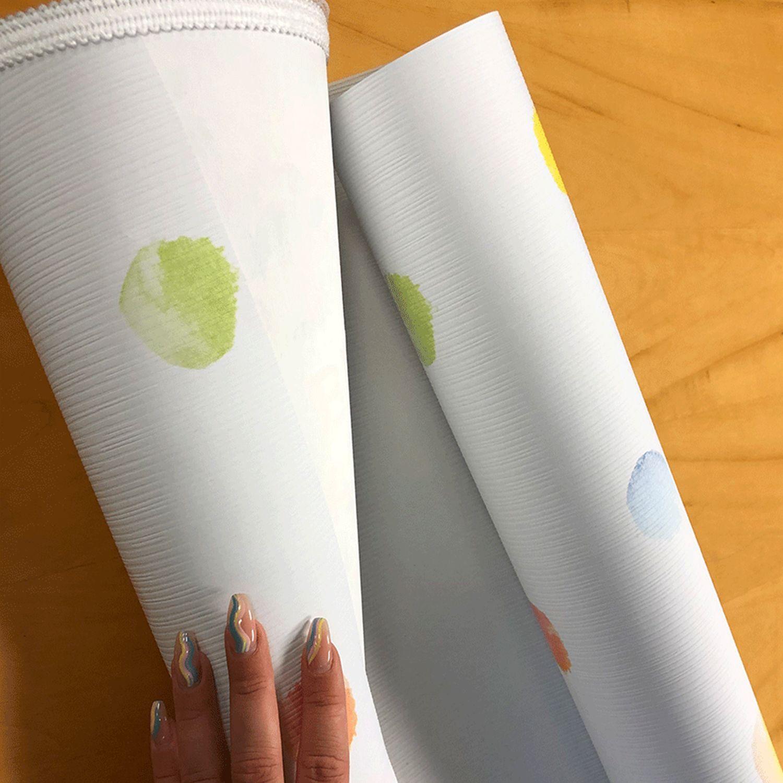 Tapetenstücke für eine DIY Schultüte