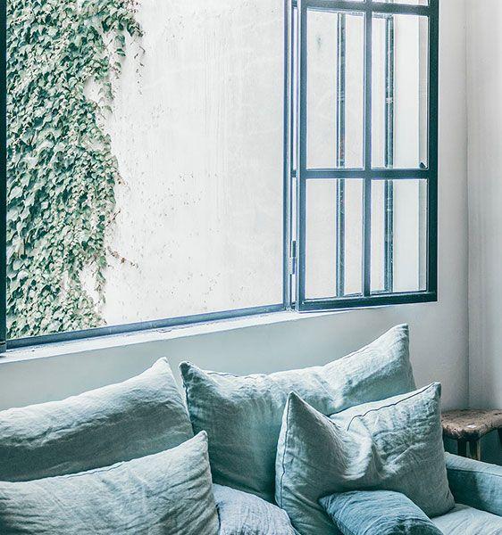 blaues schönes Fenster