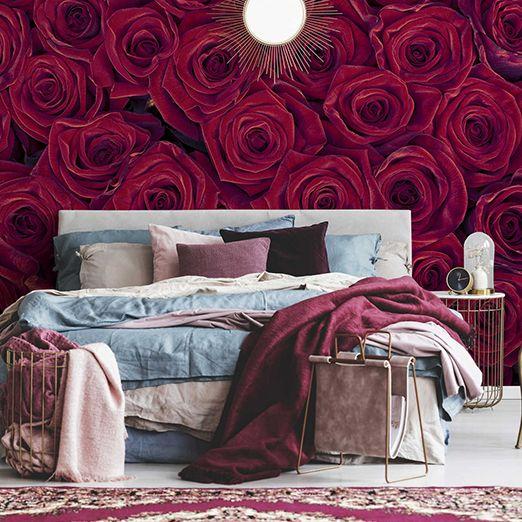 Rote Rosen Fototapete DD115098