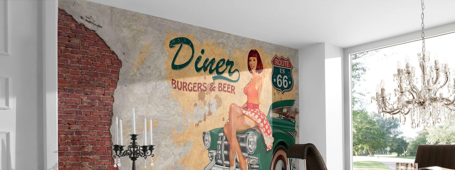 American Diner Fototapete für Cafés und Restaurants DD105959