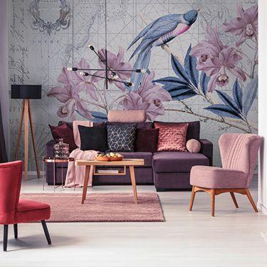 Elegante Wohnzimmer Fototapete DD119721