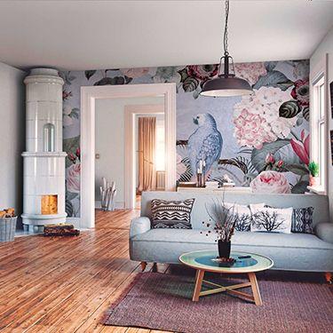 Bunte Wohnzimmer Fototapete DD119689