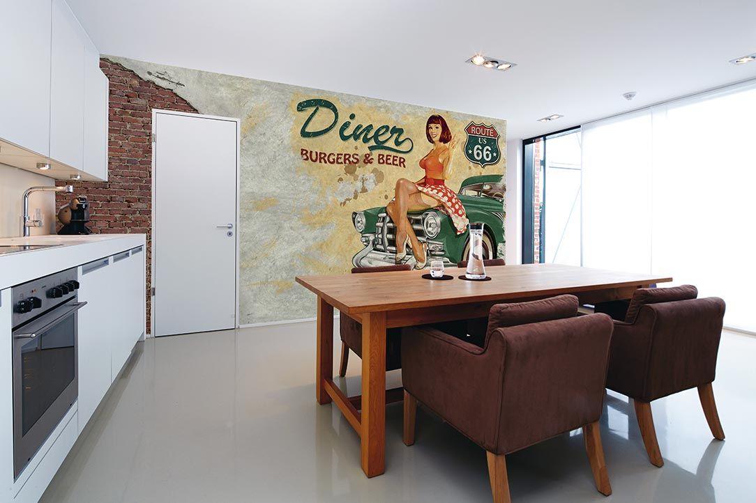 American Diner Küchen Tapete DD105959