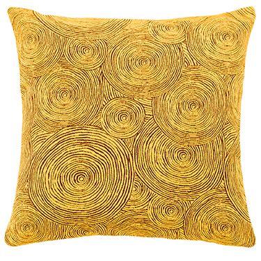 Gelbes geometrisches Dekokissen IW533602