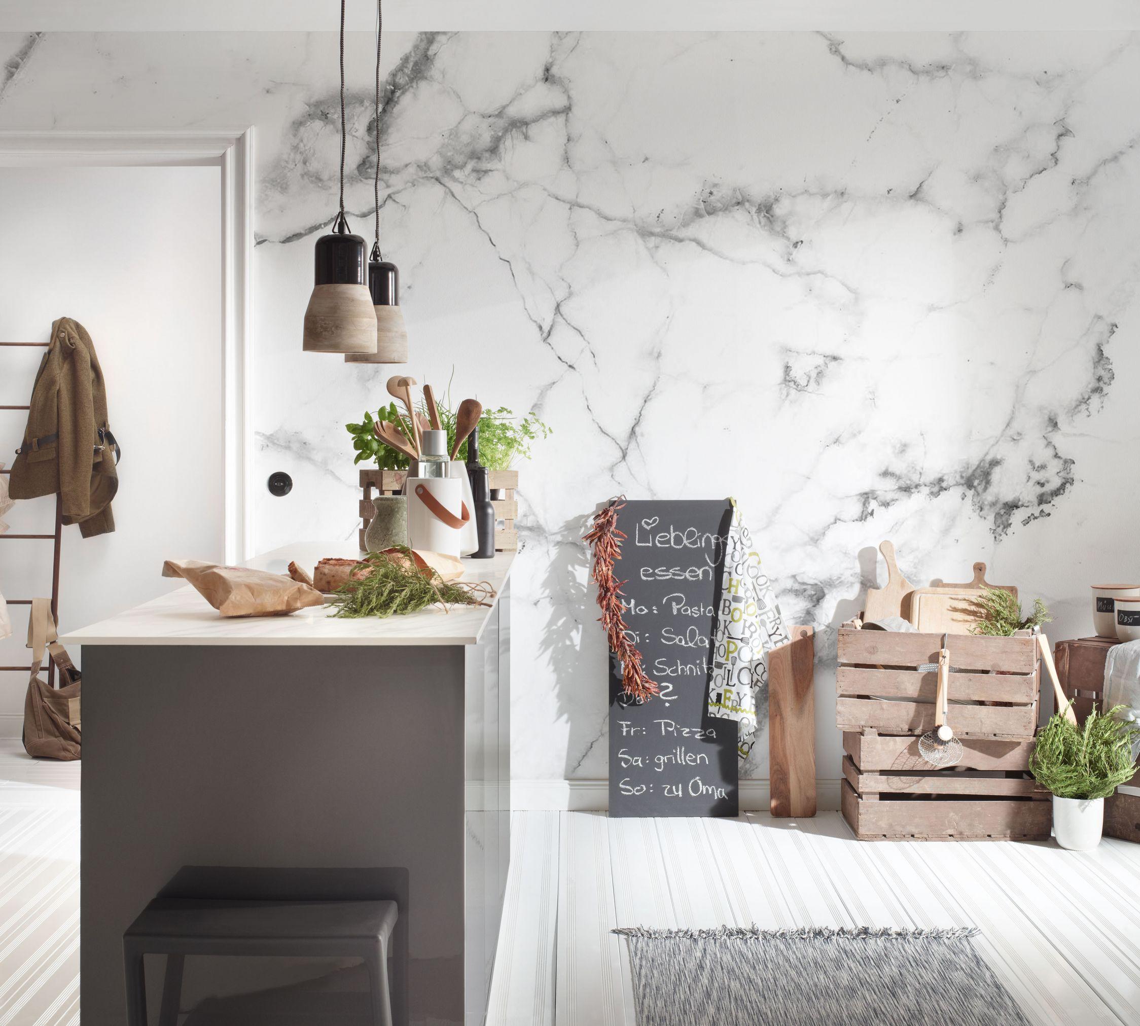 Küchen Tapete Marmor