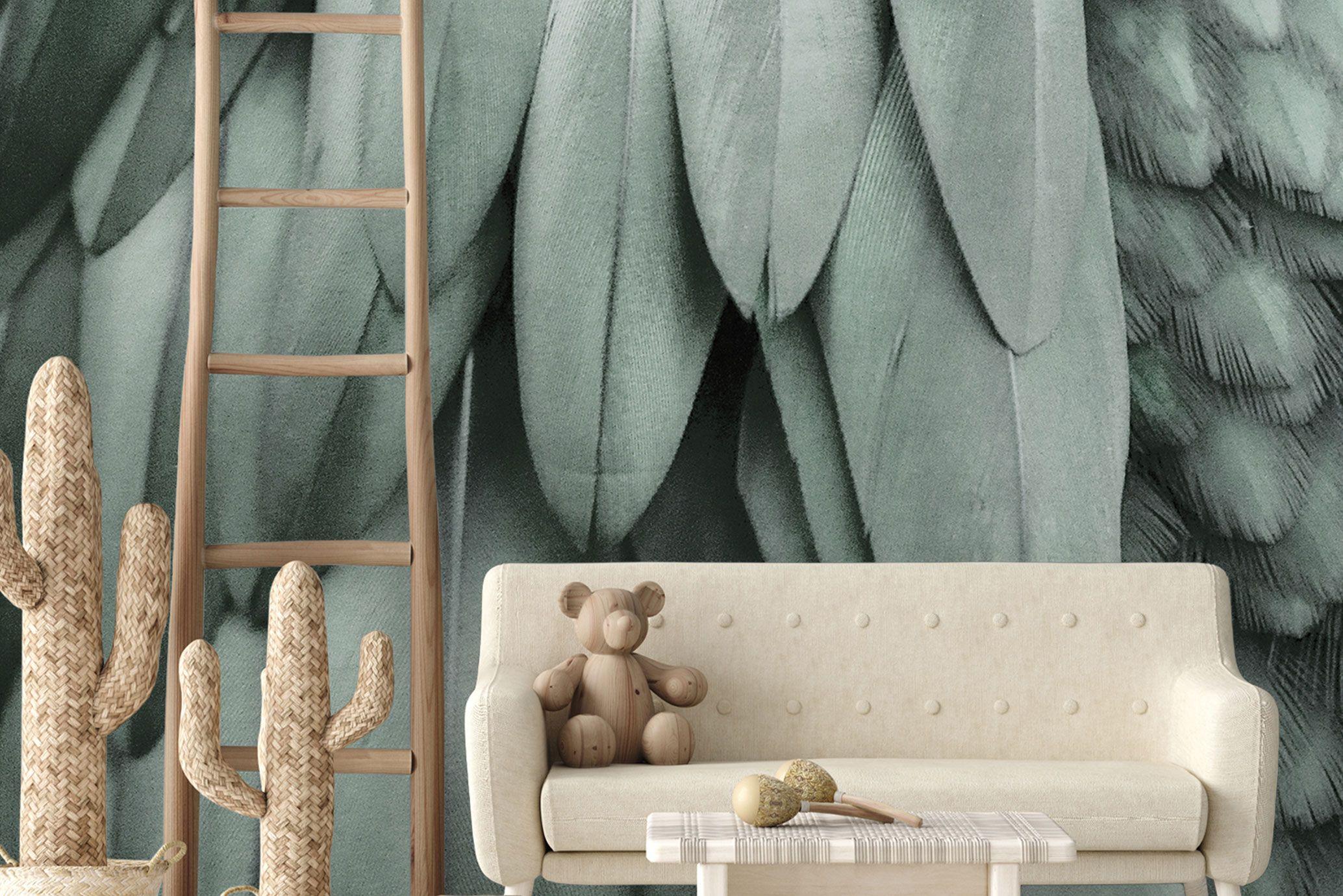 Kinderzimmer-Dschungel-Tapete-Eukalyptusgrün_DD119845